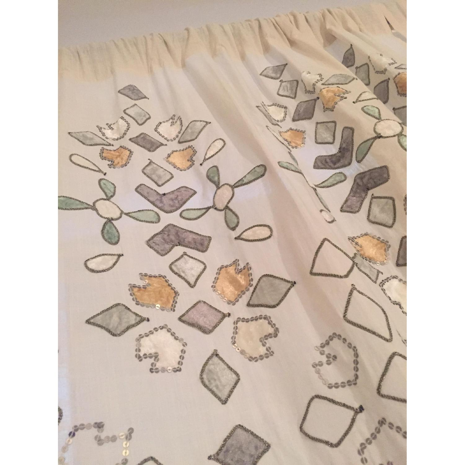 Anthropologie Sequined Window Curtains - Pair - image-2