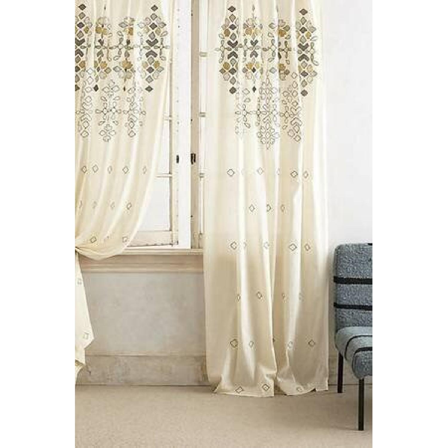 Anthropologie Sequined Window Curtains - Pair - image-3