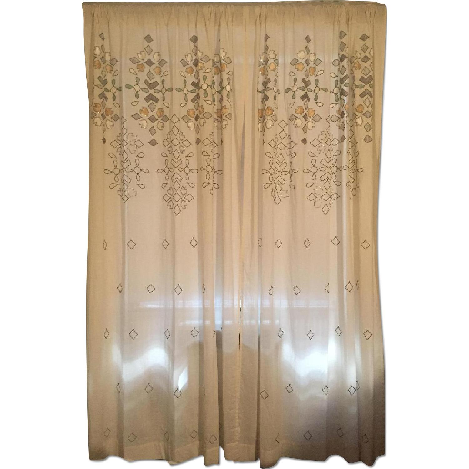 Anthropologie Sequined Window Curtains - Pair - image-0