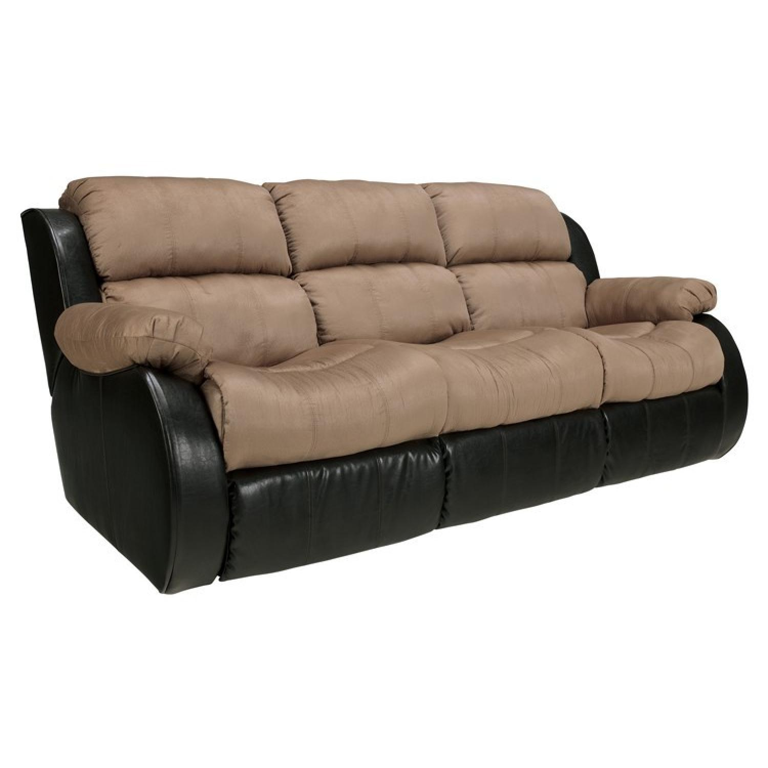 Ashley's Presley Dual Reclining Sofa in Cocoa - image-5