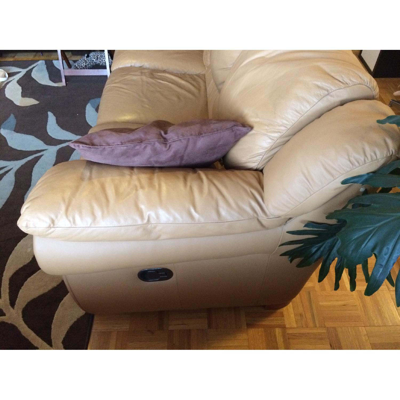 Contempo Dual-Recliner Leather Sofa - image-2