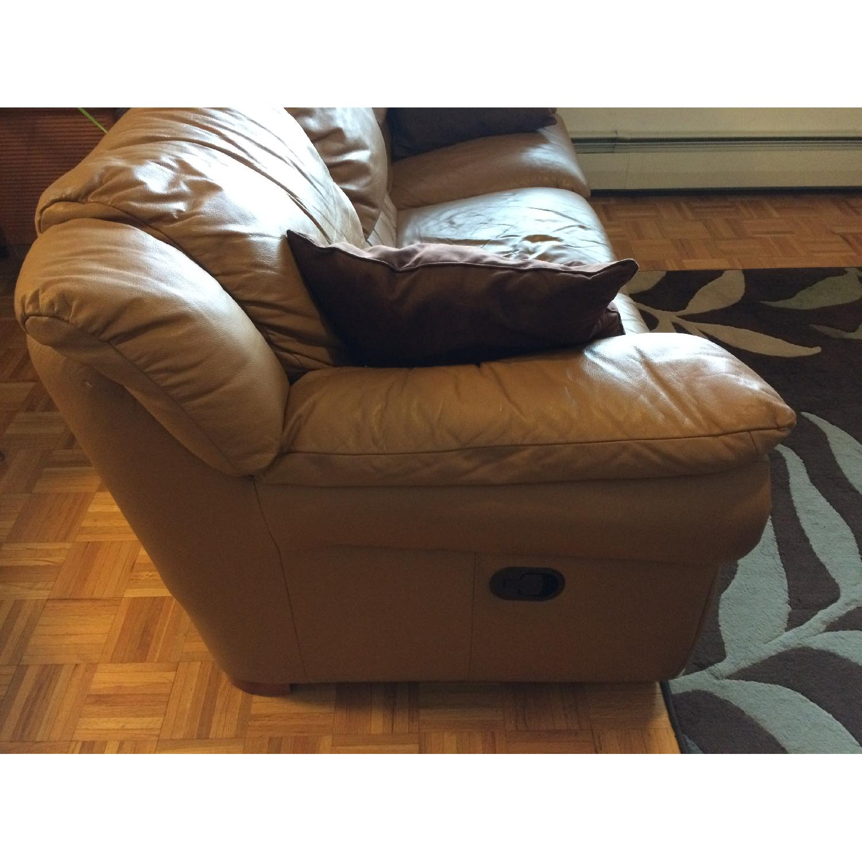 Contempo Dual-Recliner Leather Sofa - image-3