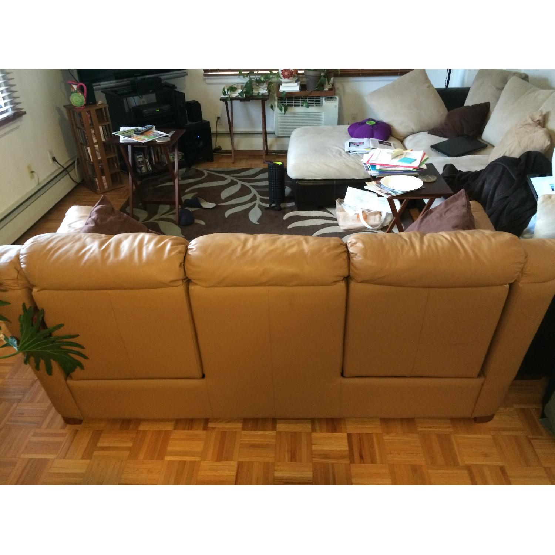 Contempo Dual-Recliner Leather Sofa - image-4