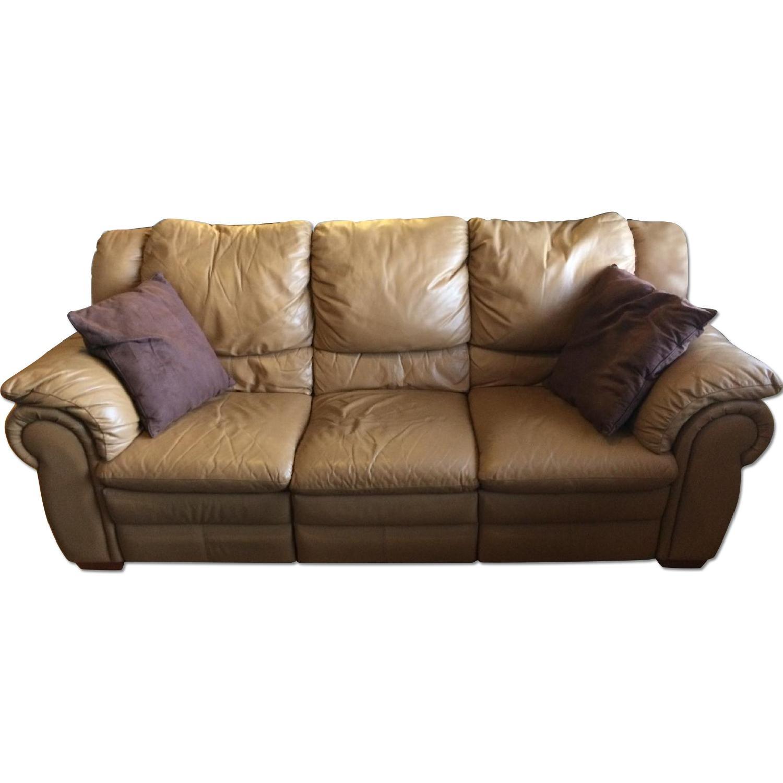 Contempo Dual-Recliner Leather Sofa - image-0
