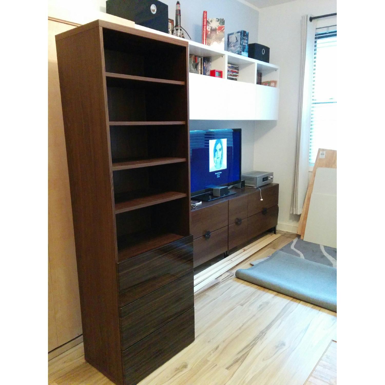 Ikea Besta Custom Bookshelf with Built-In Drawers - image-5