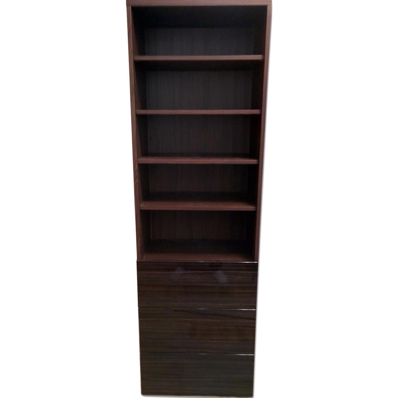 Ikea Besta Custom Bookshelf with Built-In Drawers - image-0