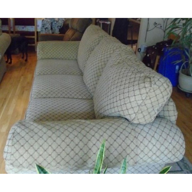 Bassett Sofa + Matching Chair & Ottoman - image-2