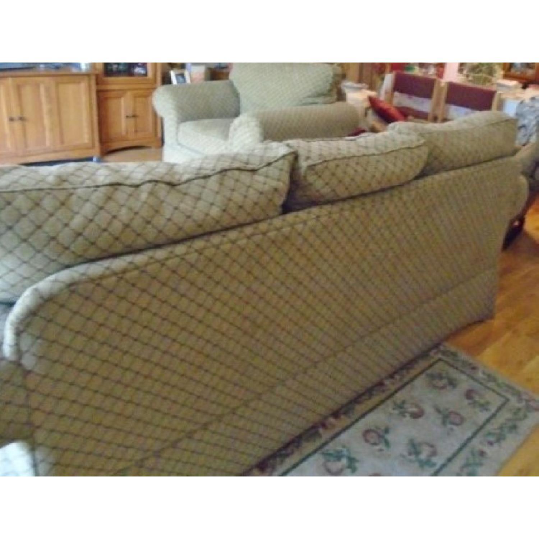 Bassett Sofa + Matching Chair & Ottoman - image-3