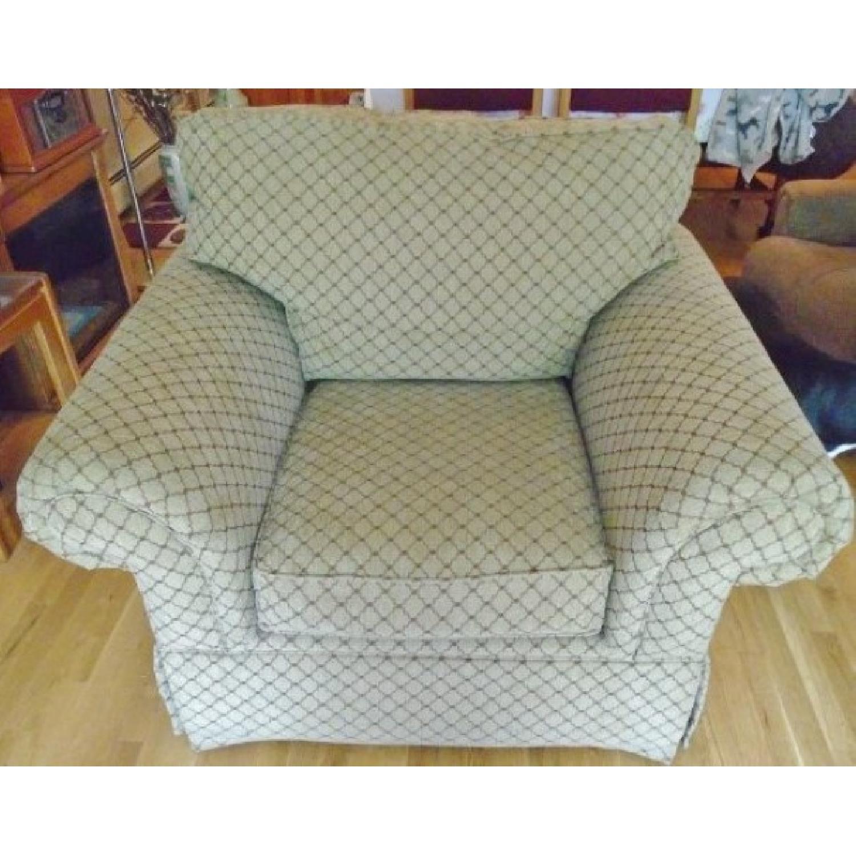 Bassett Sofa + Matching Chair & Ottoman - image-5