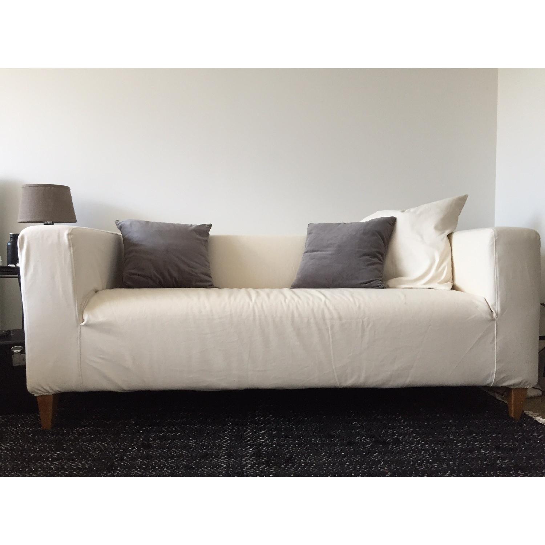 Ikea Klippan Loveseat w/ Natural Canvas Slipcover - image-2