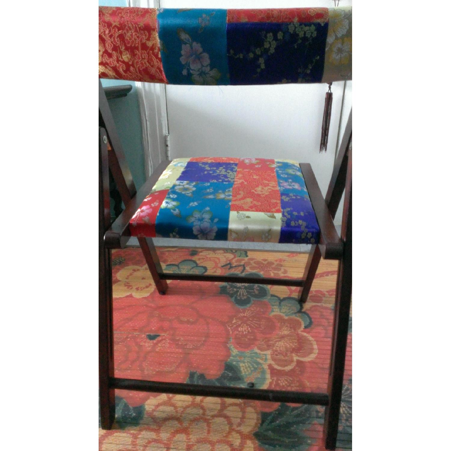 Pier 1 Brocade Folding Chairs - Pair - image-4