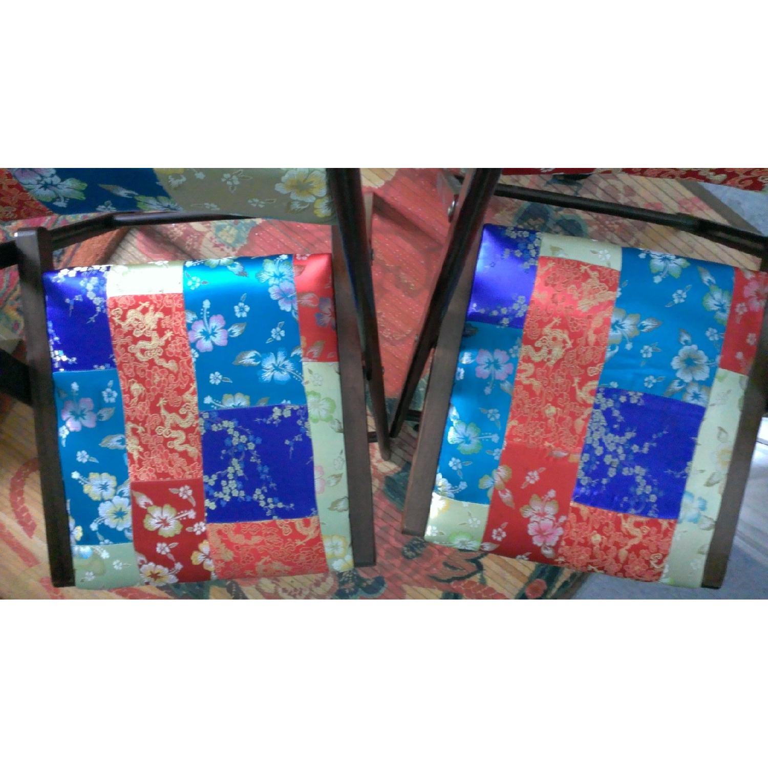 Pier 1 Brocade Folding Chairs - Pair - image-5