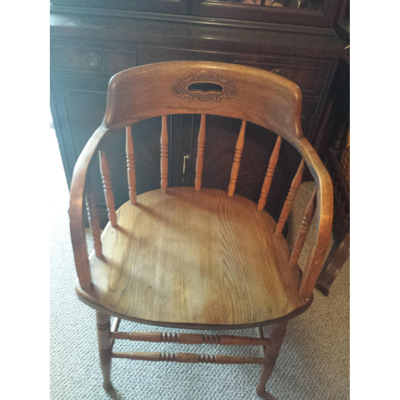 Blond Captain's Chair - image-1