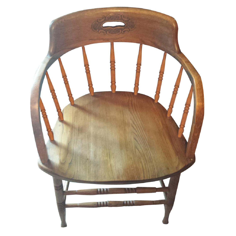 Blond Captain's Chair - image-0