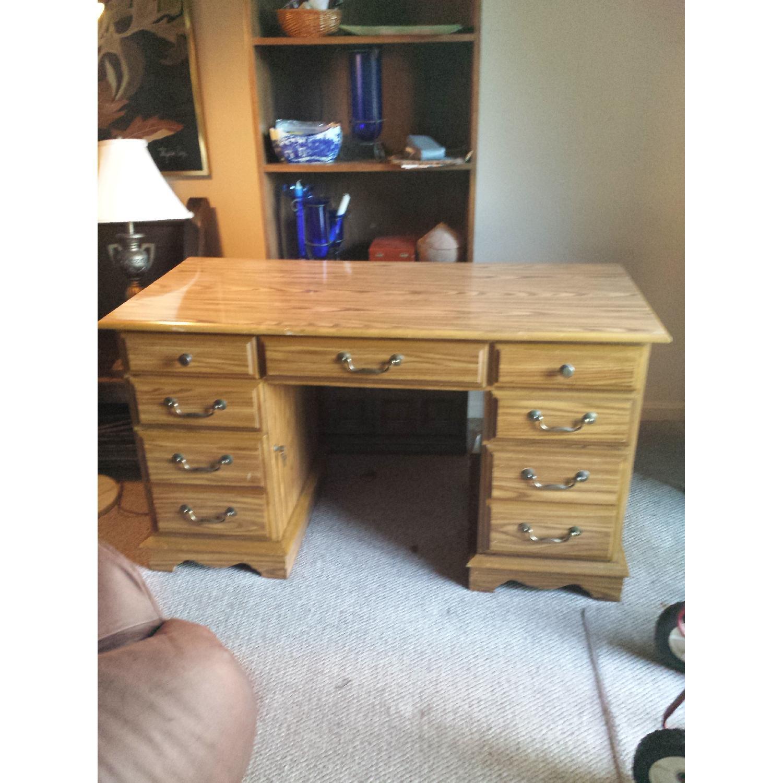 Scan Solid Oak Desk - image-1