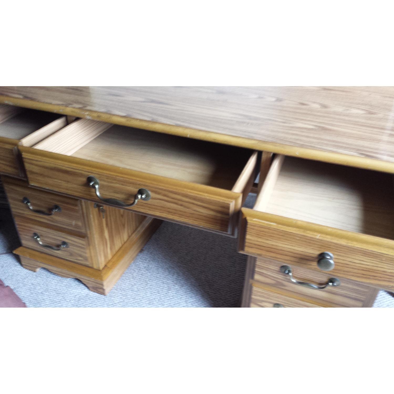 Scan Solid Oak Desk - image-2