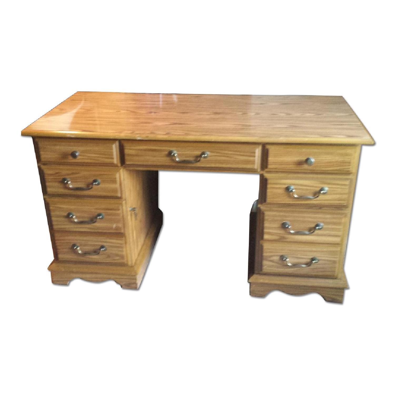 Scan Solid Oak Desk - image-0