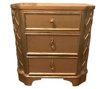 Golden Nightstand w/ 3 Drawers
