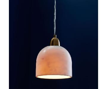 West Elm Marble & Brass Pendant