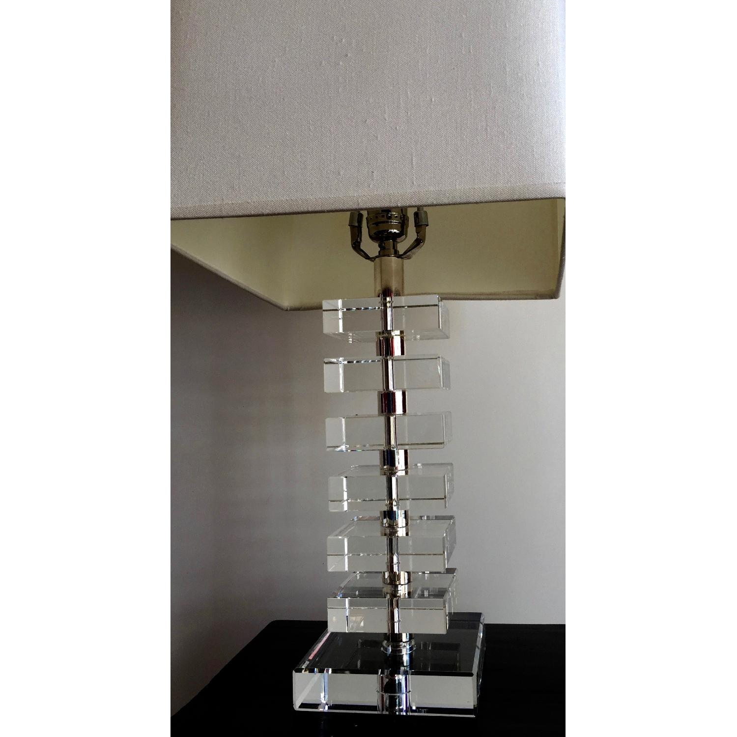Robert abbey vintage stacked crystal table lamp aptdeco robert abbey vintage stacked crystal table lamp 2 geotapseo Images