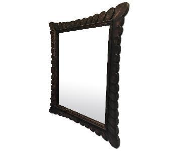 Crate & Barrel Petal Wood Mirror