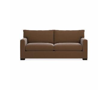 Crate & Barrel Chocolate Brown Sleeper Sofa