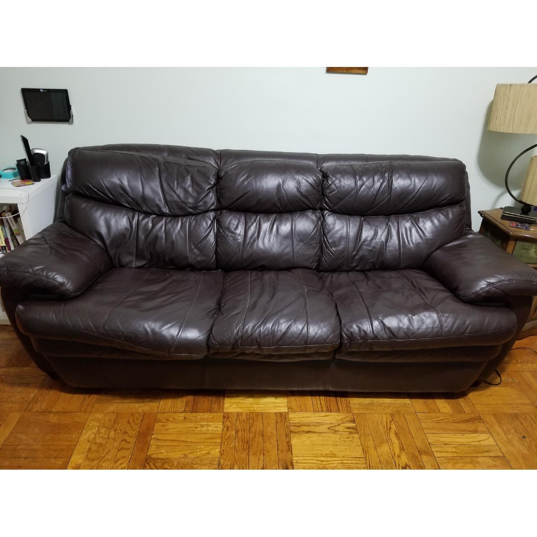 Bob s Leather Dark Brown 3 Seater Sofa AptDeco
