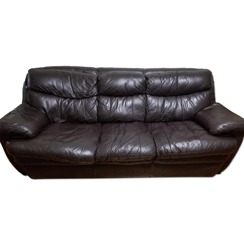 3 Seater Sofa Bed Bobs Leather Dark Brown 3 Seater Sofa Aptdeco