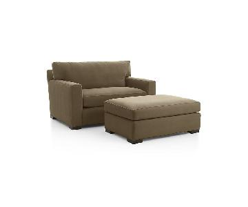 Crate & Barrel Chair and a Half & Ottoman