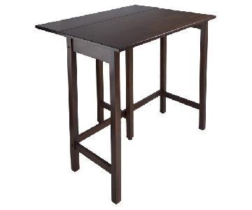 Winsome Wood Dark Brown Wood Drop Leaf Table