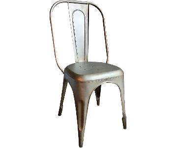 Restoration Hardware Remy Gunmetal Side Chair