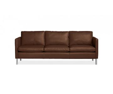 Room & Board Tan Brown Leather Sofa