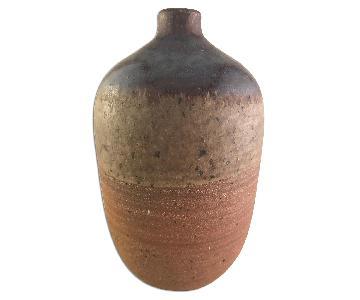 Mid Century Ceramic Vase - Signed Wright
