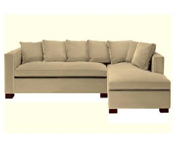 Hickory Chair Beige Sectional Sofa