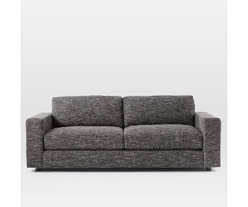 West Elm Urban Charcoal Heathered Tweed Sofa