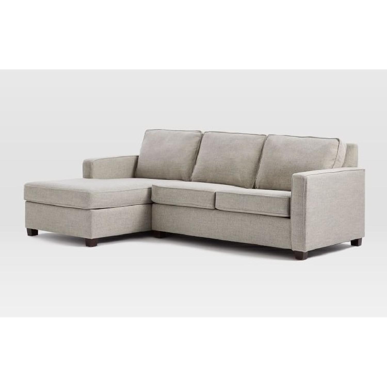West Elm Henry 2 Piece Chaise Sectional Sofa AptDeco