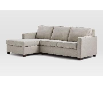 West Elm Henry 2 Piece Chaise Sectional Sofa
