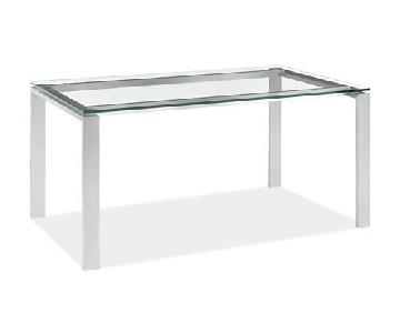 Room & Board Rand Glass Top Dining Table
