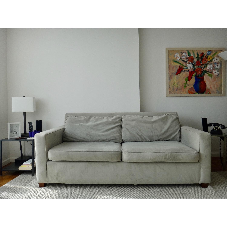 West Elm Henry Basic Twin Sleeper Sofa & Ottoman AptDeco