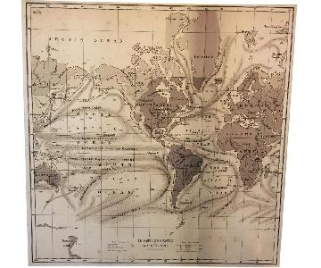 Pottery Barn Canvas Ocean Currents Map