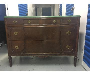 Faux Marble Top Dresser w/ Mirror