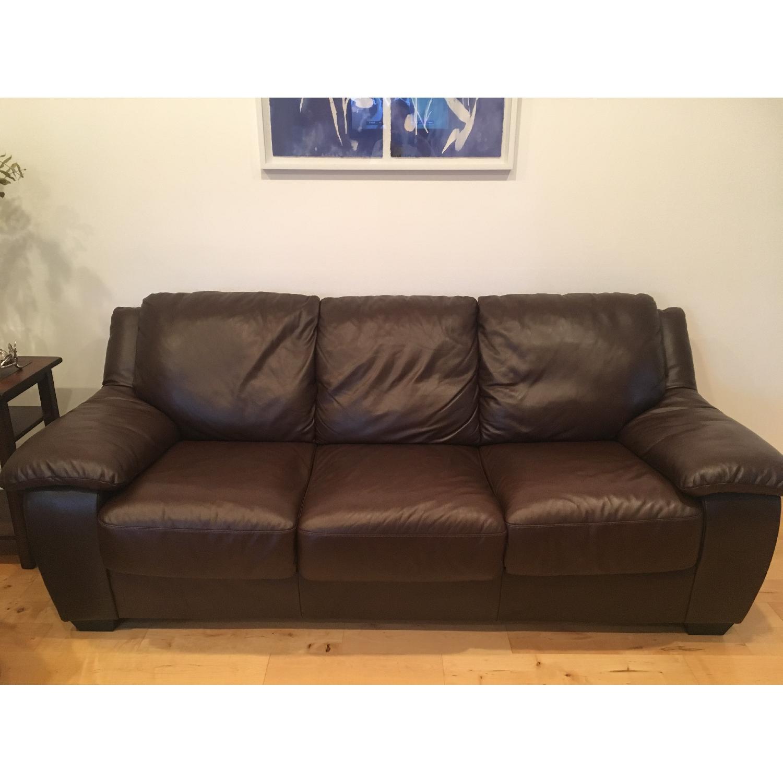 Macy s Blair Leather Sleeper Sofa AptDeco