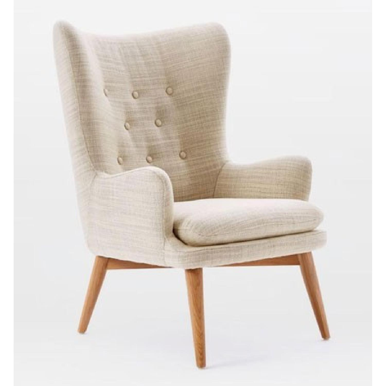 West Elm Niels Wing Chair AptDeco