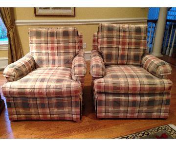 Century Custom Upholstered Club Chair