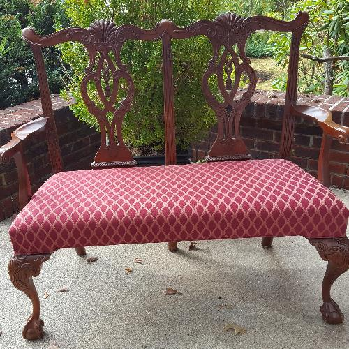 Used Hickory Chair Co. Upholstered Bench for sale on AptDeco
