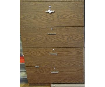Wood 4 Drawer Dresser