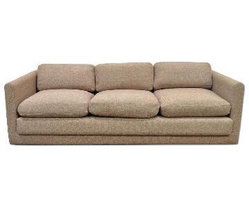 Vintage Mid Century Modern Case Sofa w/ Wood Plinth Base