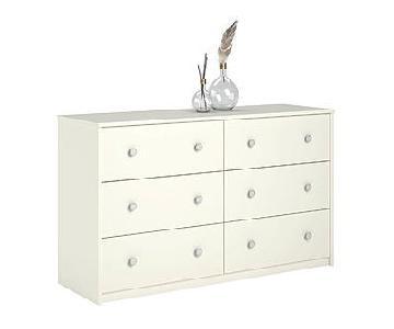 Belmont White 6 Drawer Dresser