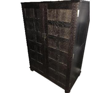 Crate & Barrel Ebony Armoire