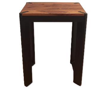 Jason Hernandez Handmade Cherry & Blackened Steel Side Table